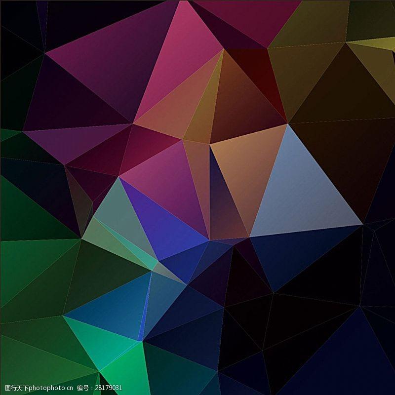 水晶模板几何背景图片