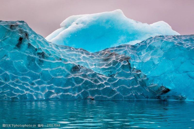 唯美冰山图片