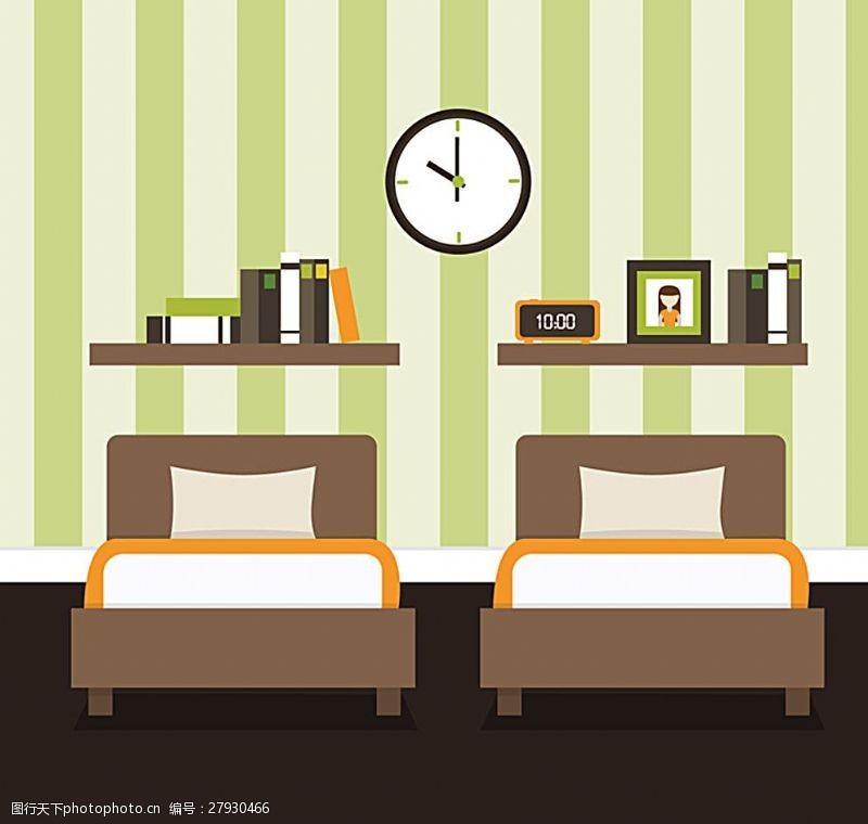电子钟卧室图片