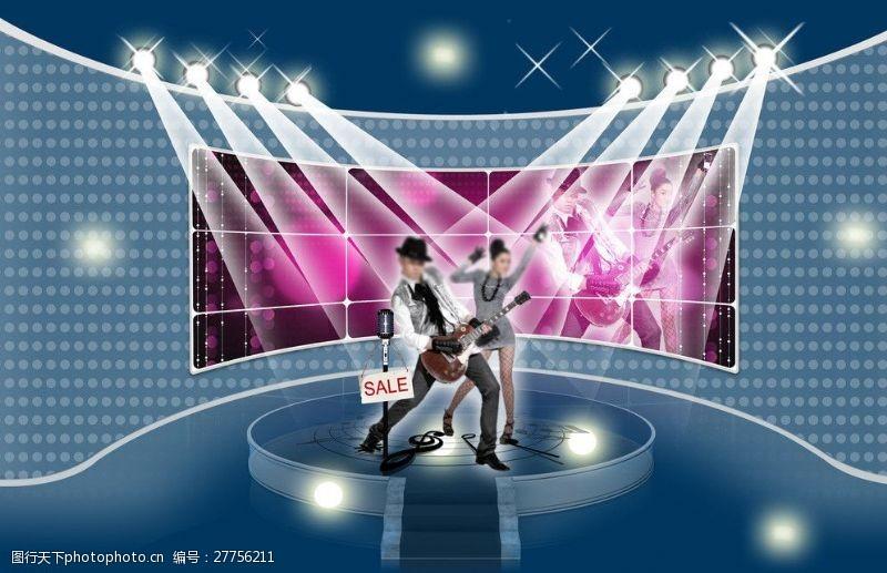 舞台背景凤凰传奇图片