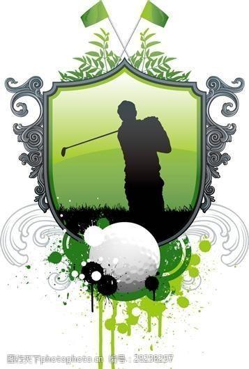 高尔夫与足球主题矢量素材eps格式_01
