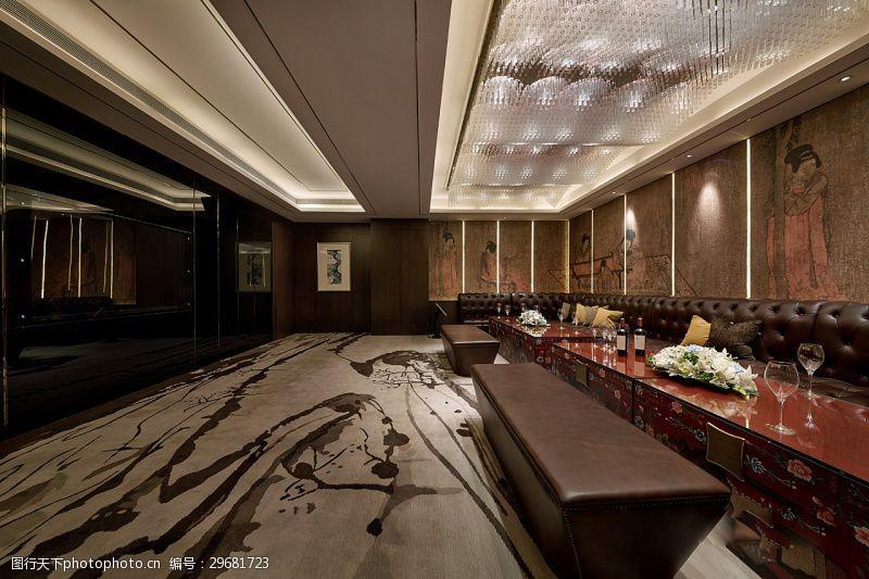室内场景模型欧式酒店过道效果图