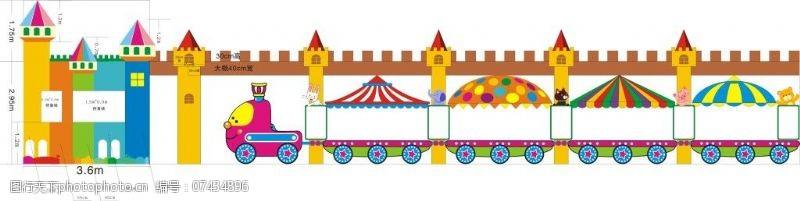 其他原创设计城堡火车